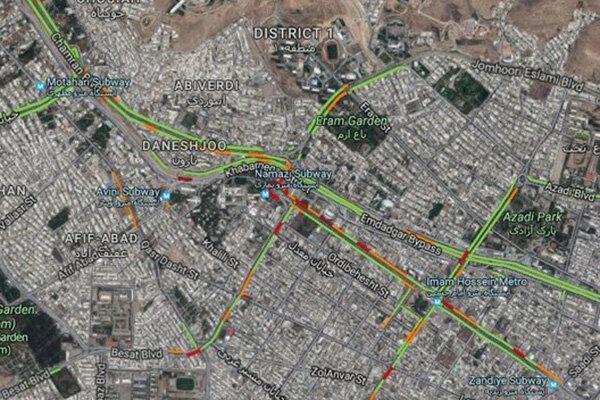 طراحی نقشه هوشمند تردد شهروندان در شیراز
